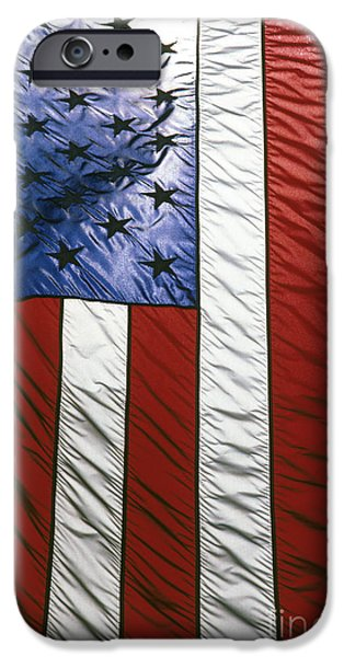 4th July iPhone Cases - American flag iPhone Case by Tony Cordoza