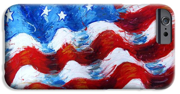 Recently Sold -  - American Independance iPhone Cases - American Flag iPhone Case by Venus