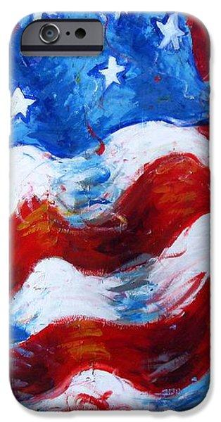 American Flag iPhone Case by Venus