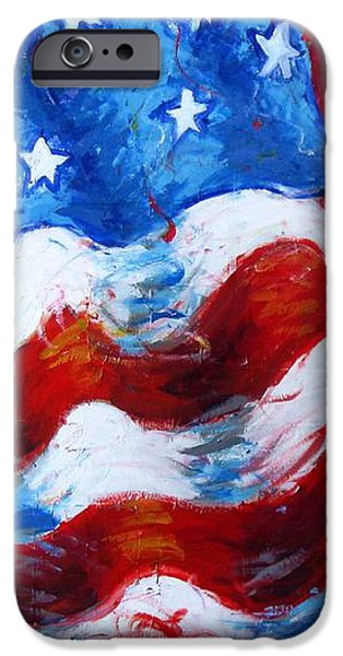 American Independance iPhone Cases - American Flag iPhone Case by Venus