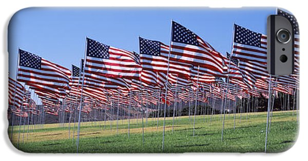American Flag iPhone Cases - American Flags In Memory Of 911 iPhone Case by Panoramic Images