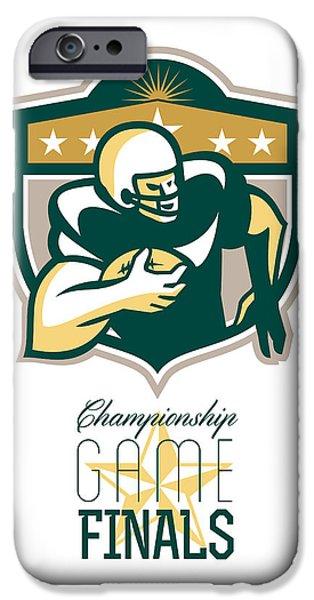 American Football Championship Game Finals QB iPhone Case by Aloysius Patrimonio