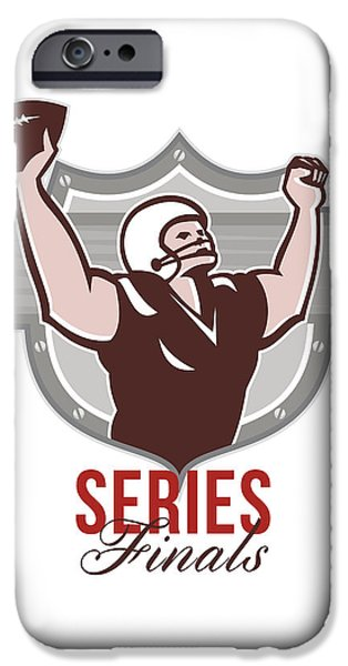 American Football Series Finals Retro iPhone Case by Aloysius Patrimonio
