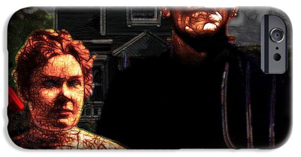 Recently Sold -  - Haunted House iPhone Cases - American Gothic Resurrection Home Sweet Home 20130715 iPhone Case by Wingsdomain Art and Photography