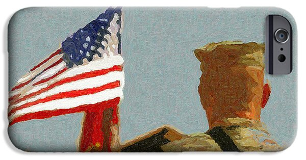 Iraq iPhone Cases - American Hero in the Desert iPhone Case by John Farr