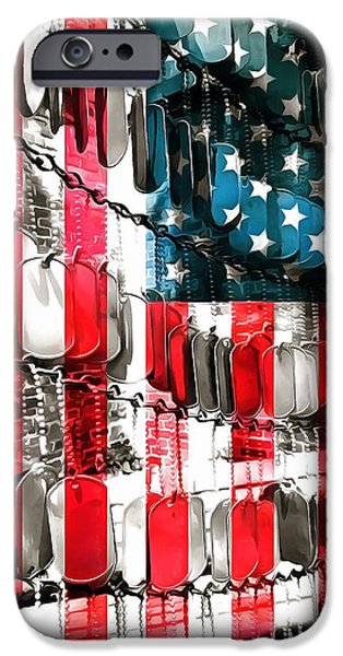 Fourth Of July iPhone Cases - American Heroes iPhone Case by Dan Sproul