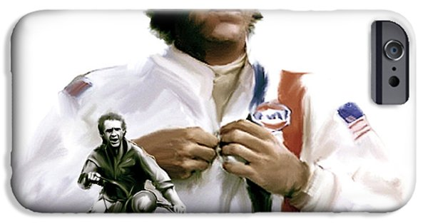 Steve Mcqueen iPhone Cases - American Icon IV  Steve McQueen iPhone Case by Iconic Images Art Gallery David Pucciarelli