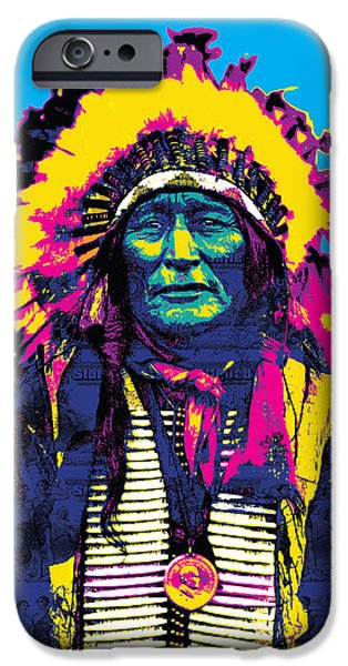 Gary Grayson iPhone Cases - American Indian Chief iPhone Case by Gary Grayson
