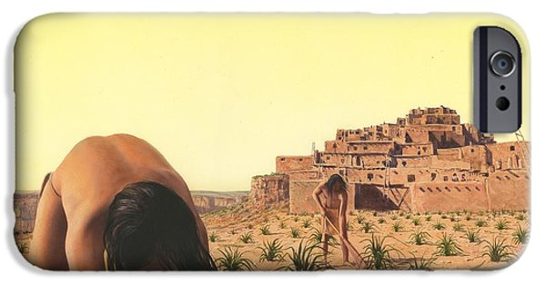 Hopi iPhone Cases - American Indian Desert Dwellers iPhone Case by Rob Wood