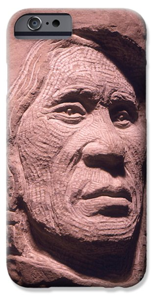 American-Indian-Portrait-1 iPhone Case by Gordon Punt