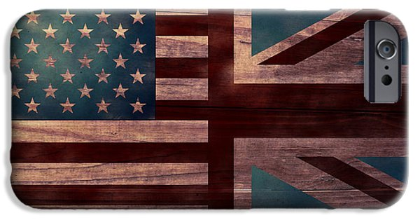 American Revolution Digital Art iPhone Cases - American Jack II iPhone Case by April Moen