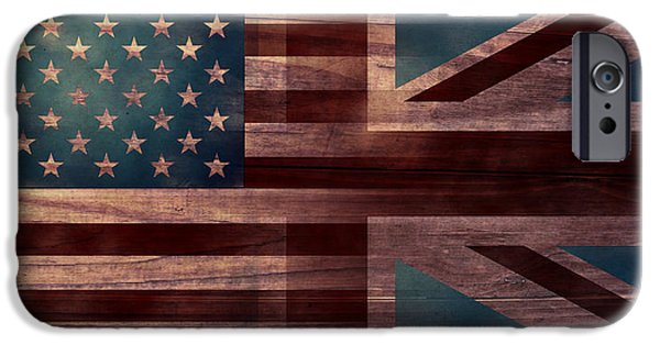 American Revolution Digital Art iPhone Cases - American Jack III iPhone Case by April Moen