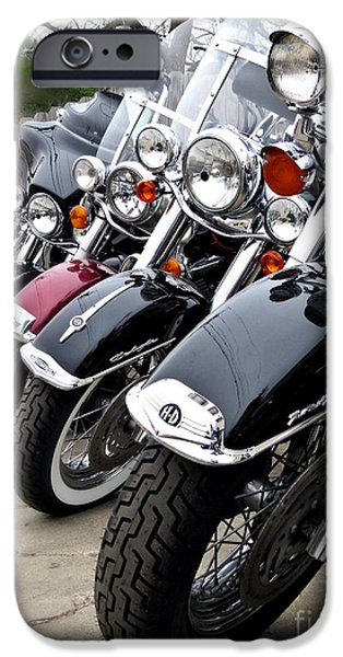 Police iPhone Cases - American Made Harley Davidson iPhone Case by Ella Kaye Dickey