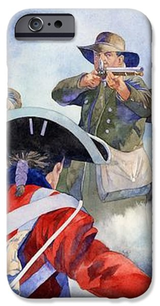 American Militiamen at Lexington iPhone Case by Matthew Frey