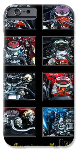 Composite iPhone Cases - American Muscle iPhone Case by Olivier Le Queinec