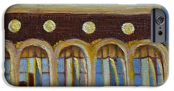 Business Paintings iPhone Cases - American National Bank of Texas iPhone Case by Helen Musser