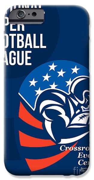 American National Super Football League Poster  iPhone Case by Aloysius Patrimonio