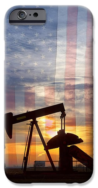 American Flag iPhone Cases - American Oil 2 iPhone Case by James BO  Insogna