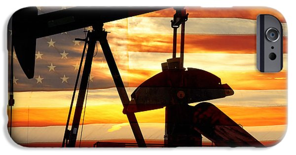 Sunset iPhone Cases - American Oil  iPhone Case by James BO  Insogna