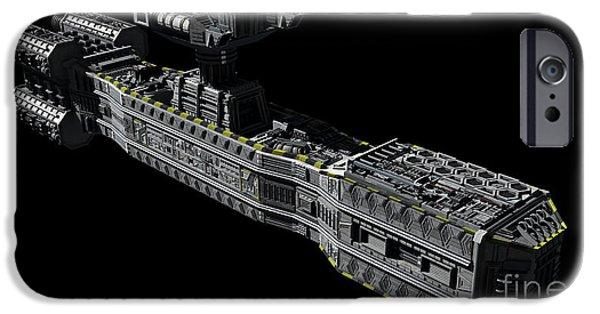Copy Machine Digital Art iPhone Cases - American Orbital Weapons Platform iPhone Case by Rhys Taylor