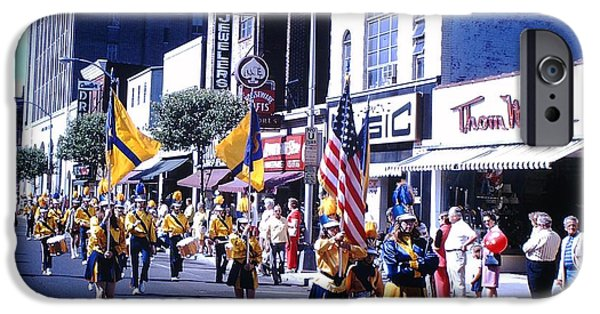 Fourth Of July iPhone Cases - American Parade in 1972 iPhone Case by Bobby Cole