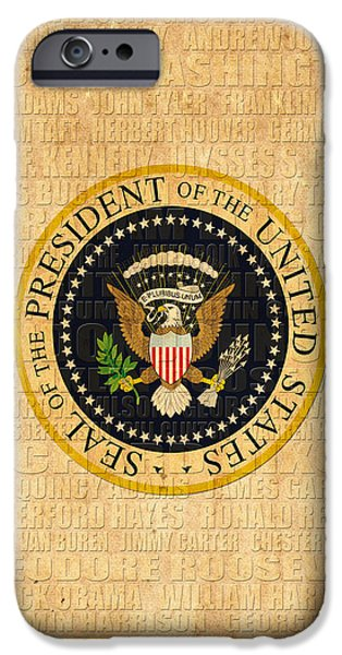 President Obama iPhone Cases - American Presidents iPhone Case by Andrew Fare