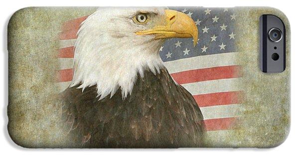 American Pride iPhone Cases - American Pride 2 iPhone Case by Angie Vogel