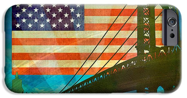 Best Sellers -  - 4th July Mixed Media iPhone Cases - American Pride iPhone Case by Bedros Awak