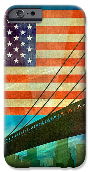 American Pride iPhone Case by Bedros Awak