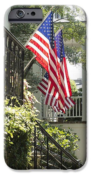 Patriotic Savannah iPhone Cases - American Pride iPhone Case by John Milano