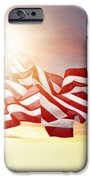 American pride iPhone Case by Les Cunliffe