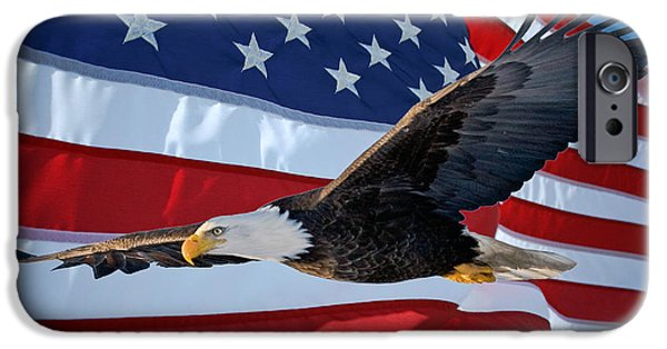 Old Glory iPhone Cases - American Proud iPhone Case by Gary Keesler