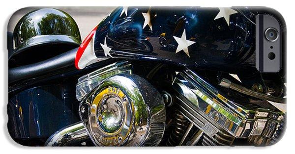 Cruiser iPhone Cases - American Ride iPhone Case by Adam Romanowicz