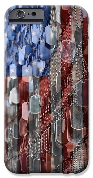 Flag iPhone Cases - American Sacrifice iPhone Case by DJ Florek