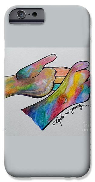 American Sign Language ... Lead Me Gently iPhone Case by Eloise Schneider