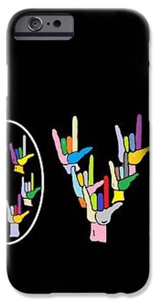 American Sign Language I LOVE U   iPhone Case by Eloise Schneider