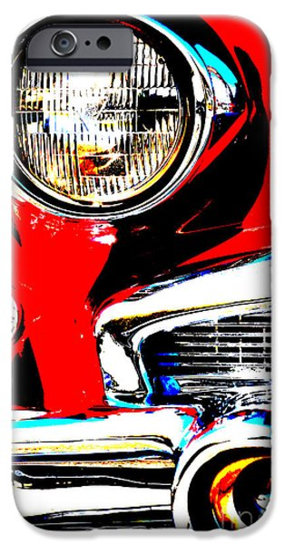 Shower Head iPhone Cases - rED AND SILVER American CAR - Art and Pillows iPhone Case by ArtyZen Studios - ArtyZen Home
