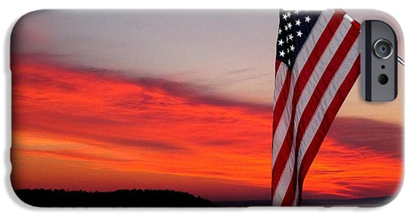 Garrison Cove iPhone Cases - American sunrise iPhone Case by Donnie Freeman