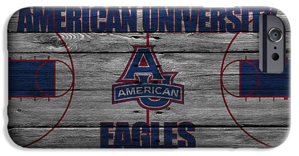 Dunk iPhone Cases - American University Eagles iPhone Case by Joe Hamilton