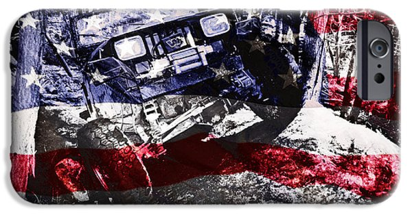 Jeep iPhone Cases - American Wrangler iPhone Case by Luke Moore