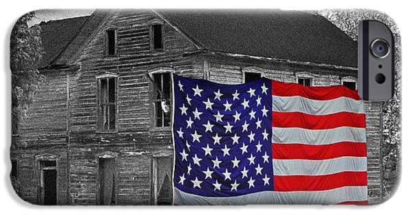 Old Glory iPhone Cases - Americana 0002 iPhone Case by Jeff Stallard