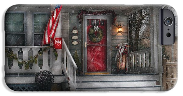 Best Sellers -  - Wintertime iPhone Cases - Americana - A Tribute to Rockwell - Westfield NJ iPhone Case by Mike Savad