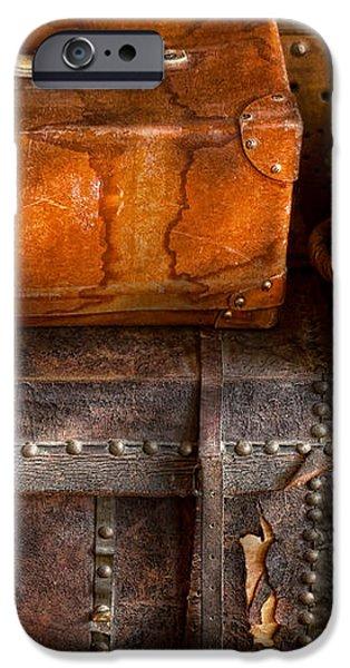 Americana - Emotional baggage  iPhone Case by Mike Savad