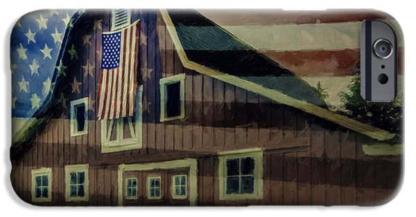 4th July Photographs iPhone Cases - Americana Glory iPhone Case by Jean OKeeffe Macro Abundance Art