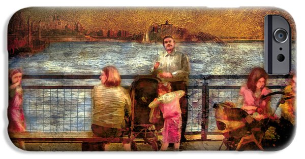 Hudson River Digital iPhone Cases - Americana - People - Jewish Families iPhone Case by Mike Savad
