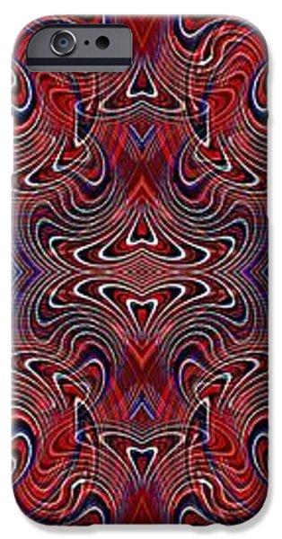 Americana Swirl Banner 3 iPhone Case by Sarah Loft