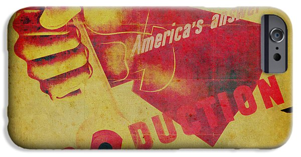 Work Tool Mixed Media iPhone Cases - Americas Answer PRODUCTION iPhone Case by Humphrey King