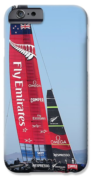 Barker iPhone Cases - Americas Cup Emirates Team New Zealand iPhone Case by Steven Lapkin