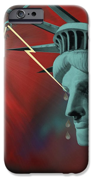 Americas deepest  wound  - 100 iPhone Case by Irmgard Schoendorf Welch
