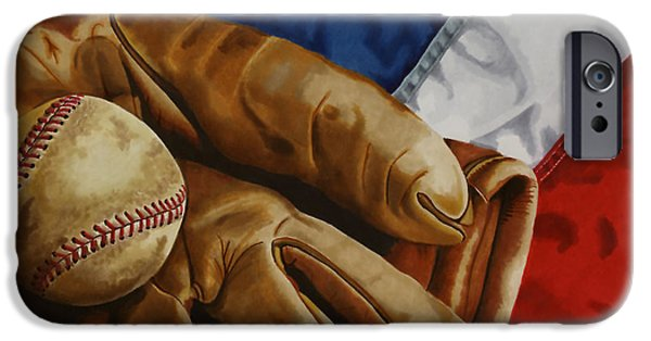 Americana Drawings iPhone Cases - Americas Pastime iPhone Case by Cory Still
